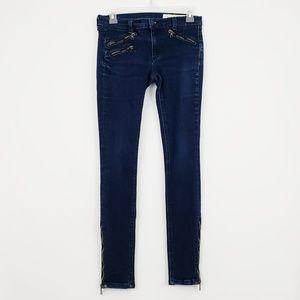 Rag & Bone Moto Super Skinny Jean's Size 27 #444